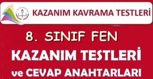 MEB 8. SINIF KAZANIM DEĞERLENDİRME  TESTLERİNİN TAMAMI VE CEVAPLARI