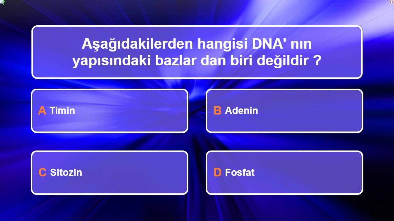 8. Sınıf fen Bilimleri 2. Ünite (DNA  ve  Genetik kod) kim 500 Bin İster Yarışması